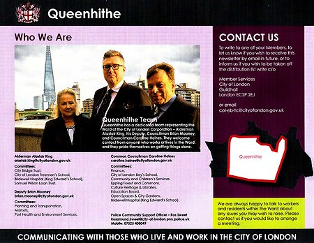 Queenhithe Ward News. QueenhitheTeamPhoto